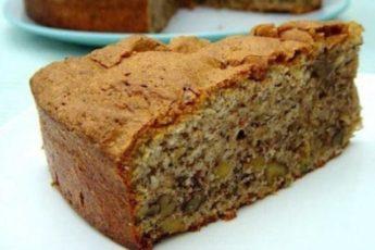 Рецепт простого, но очень вкусного орехового пирога