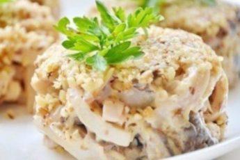 Рецепт потрясающего салата с кальмарами. Быстрая и очень вкусная закуска!