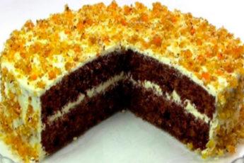 Шикарный торт «Янтарный». Простой в приготовлении и недорогой. Видео