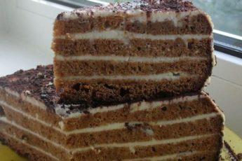 Вкусный, нежный, воздушный торт «К чаю» (аля «Медовик»).